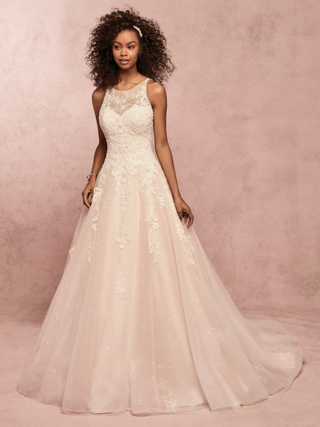 Honor Marie (9RC018) Lace Ballgown Wedding Dress by Rebecca Ingram
