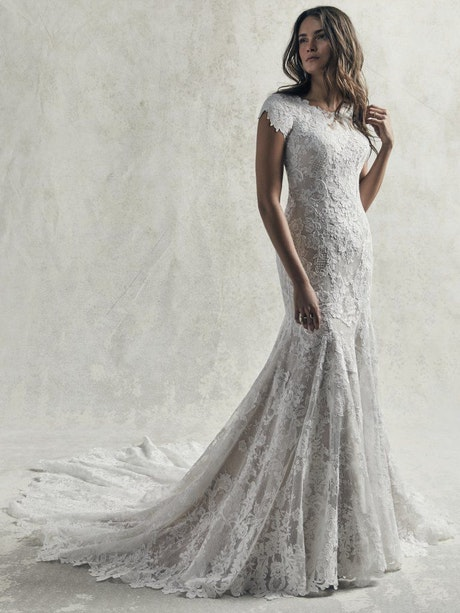 Chauncey Leigh (9SC035MC) Modest Boho Wedding Dress by Sottero and Midgley