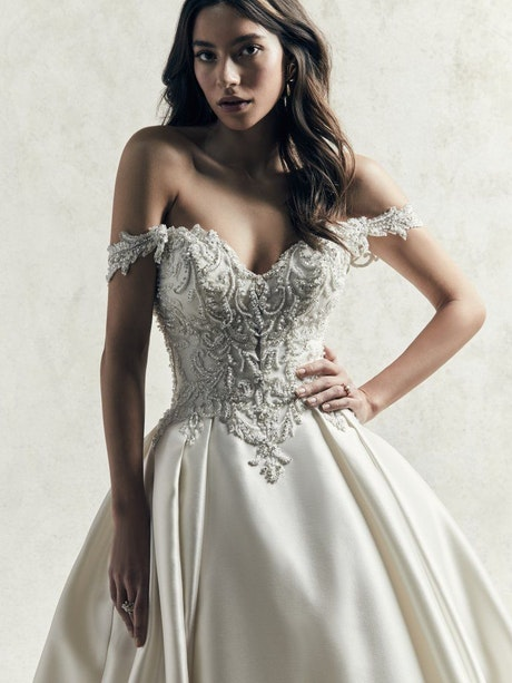 Kimora (9SS061) Simple Lace Ballgown Wedding Dress by Sottero and Midgley