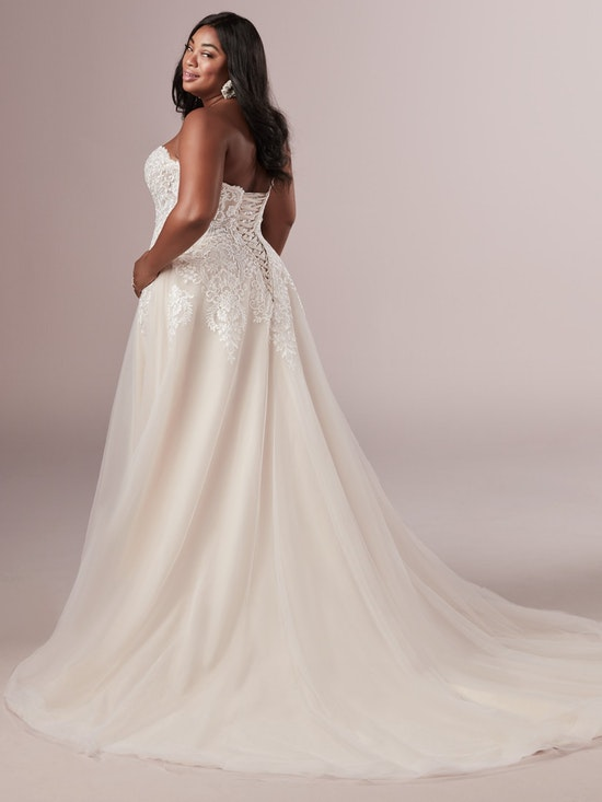 Vanessa (Curve) (CRV-9RS806ZU) s Plus Size A Line Princess Wedding Dress by Rebecca Ingram