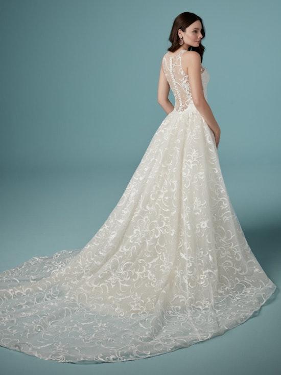 Colbie (9MS905) Unique Sequined Lace Wedding Dress by Maggie Sottero