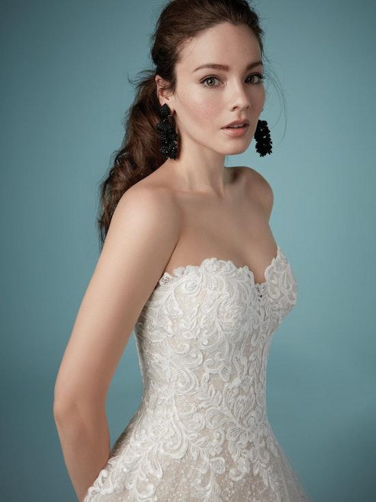 Tristyn (9MC914) Sequin Ballgown Wedding Dress by Maggie Sottero