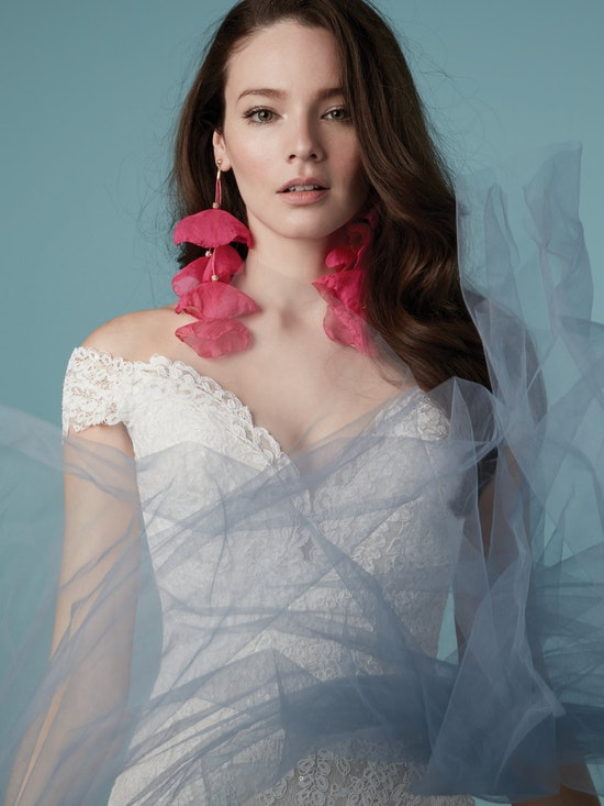 Maeleigh (9MW855) Off the Shoulder A Line Wedding Dress by Maggie Sottero