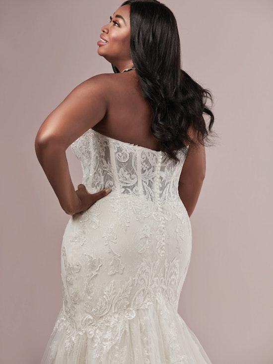 Jennifer (Curve) (CRV-9RT810) Corset Bodice Wedding Dress by Rebecca Ingram