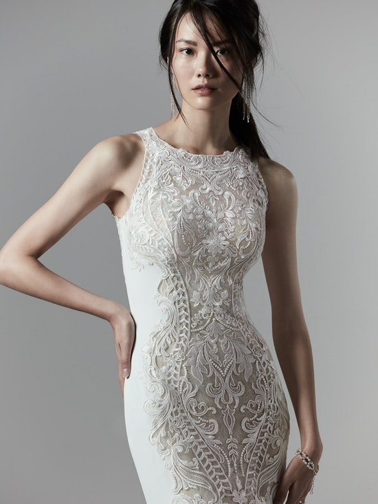 Kevyn (9SC803) Sexy Crepe and Lace Wedding Dress by Sottero and Midgley