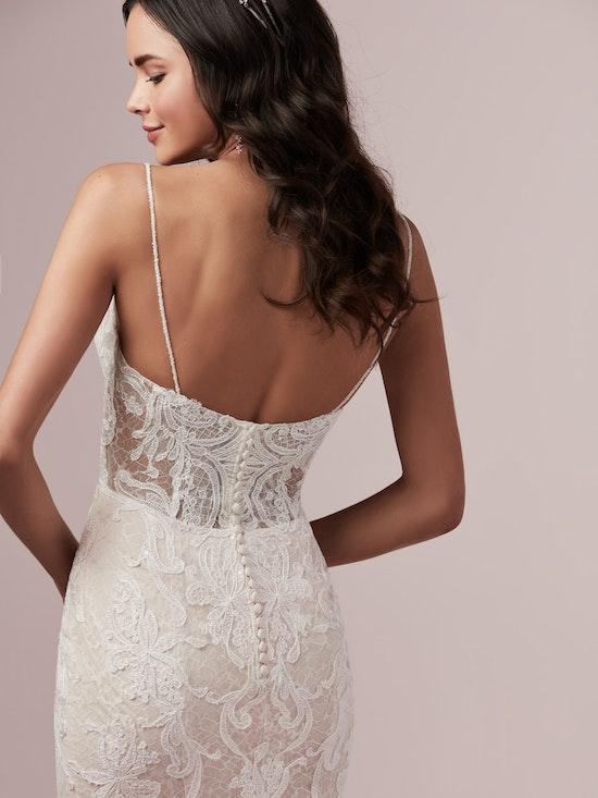 Laurette (9RS892) V Neckline Lace Wedding Dress by Rebecca Ingram