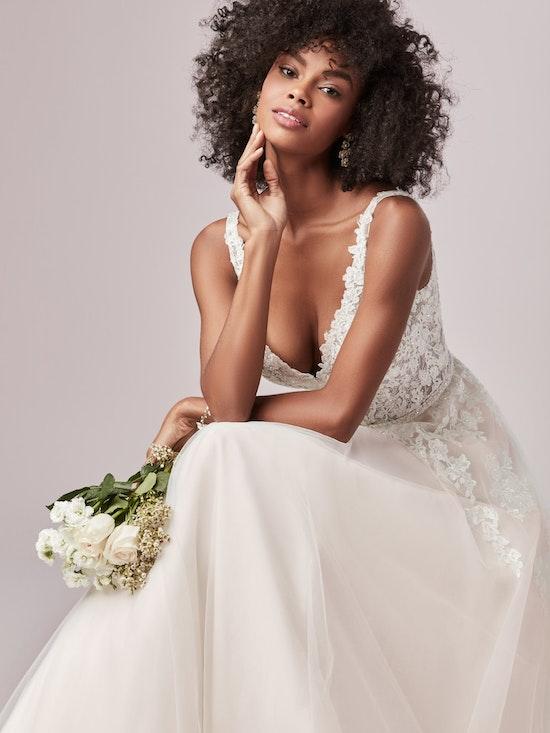 Miriam Rose (9RS818UB) ion Lace Bodice A Line Wedding Dress by Rebecca Ingram