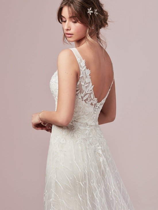 Molly (9RN805) Unique Lace Wedding Dress by Rebecca Ingram