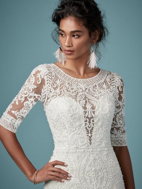 Blake (9MC817) Sleeved Boho Wedding Dress by Maggie Sottero