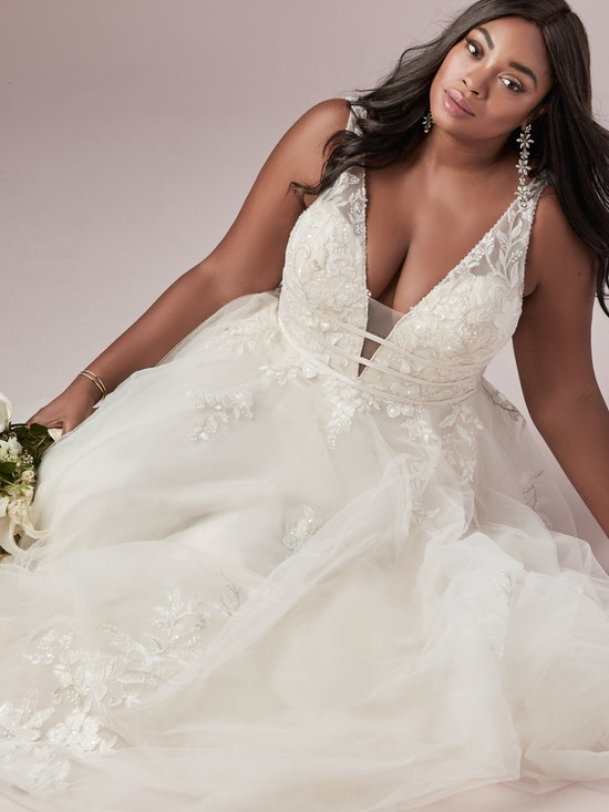 Raelynn Lynette (Curve) (CRV-9RT827AC) ine Plus Size Wedding Dress by Rebecca Ingram