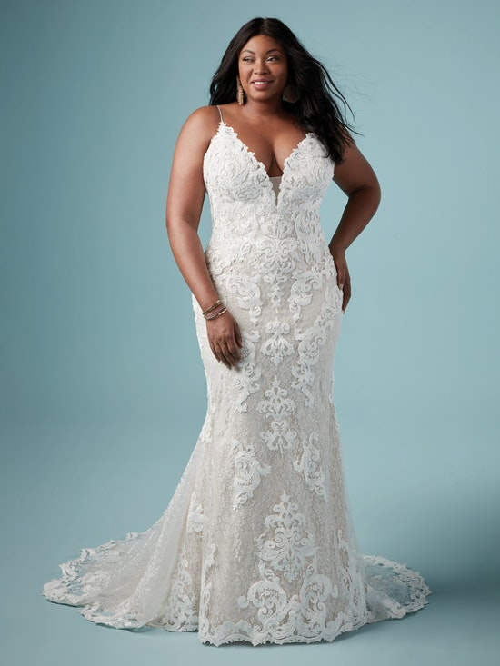Tuscany Marie (Curve) (CRV-8MS794AC) Plus Size Sexy Wedding Dress by Maggie Sottero