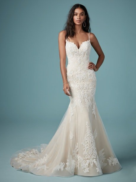 Glorietta (9MC882) Rustic Lace Wedding Dress by Maggie Sottero