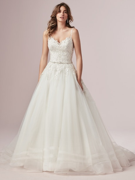 Sylvia (9RC813) Lace Ballgown Wedding Dress by Rebecca Ingram