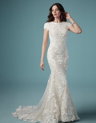 Tuscany Leigh (9MS922) Modest Lace Wedding Dress by Maggie Sottero