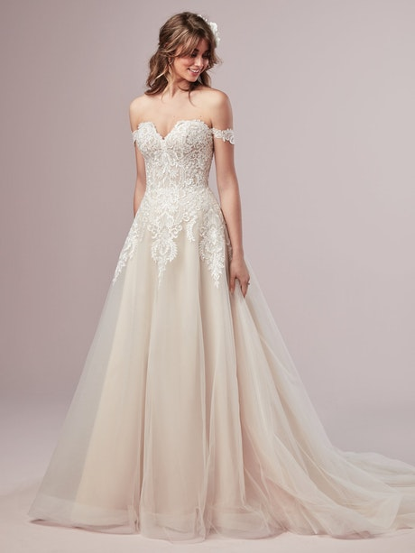Vanessa (Curve) (CRV-9RS806ZU) s A Line Princess Wedding Dress by Rebecca Ingram