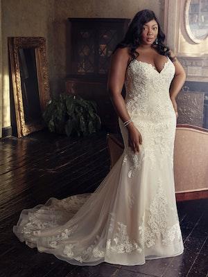 Glorietta Lynette (Curve) (CRV-9MC882AC) Lace Wedding Dress by Maggie Sottero