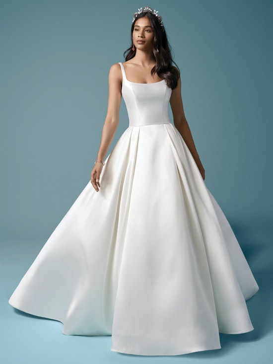 Bridesmaid dresses with satin wedding dress 6